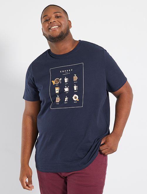 T-shirt met print                                                                                         koffie bruin