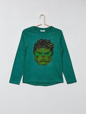 Jongenskleding 3-12 jaar - T-shirt met print van de 'Hulk' - Kiabi