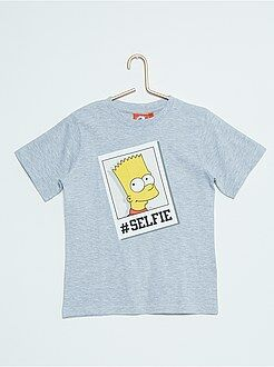 T-shirt met print van 'The Simpsons'