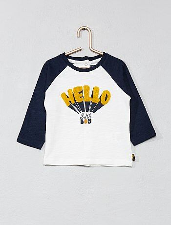 Jongen 0-36 maanden - T-shirt met raglanmouwen - Kiabi