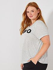T-shirt met sieraad
