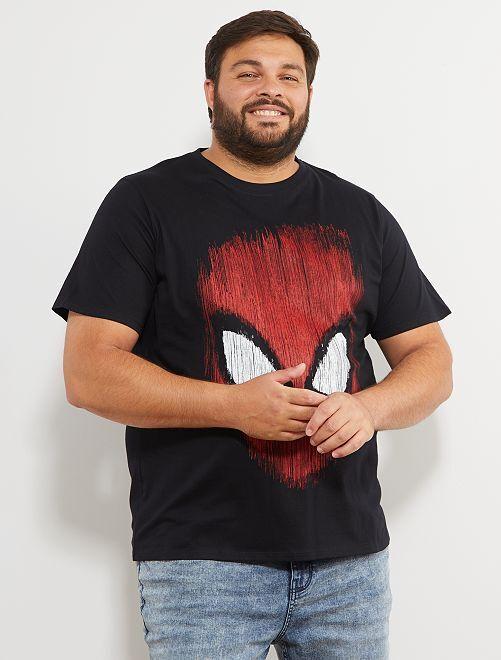 T-shirt met 'Spider-Man'-print                             zwart