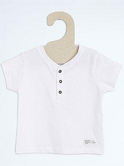 Jongen 0-36 maanden T-shirt met Tunesische hals