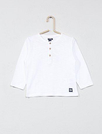 T-shirt met Tunesische hals - Kiabi