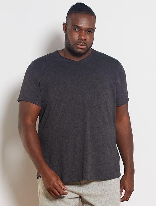 T-shirt met V-hals 'Ecodesign'                                                                 GRIJS