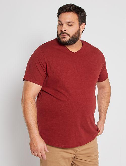 T-shirt met V-hals 'Ecodesign'                                                                                                     ROOD