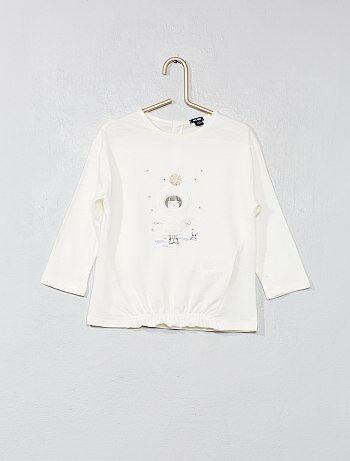 Meisje 0-36 maanden - T-shirt met versiersels - Kiabi