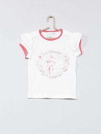 Meisje 0-36 maanden - T-shirt met zwierige mouwtjes van 'Tinker Bell' - Kiabi