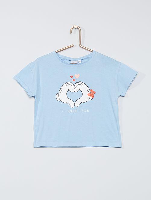 T-shirt 'Minnie en Mickey'                                                     BLAUW