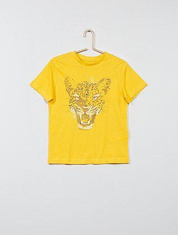 T-shirt van 100% katoen met print - Kiabi
