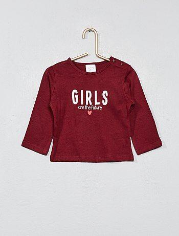 Meisje 0-36 maanden - T-shirt van 100% katoen met print - Kiabi