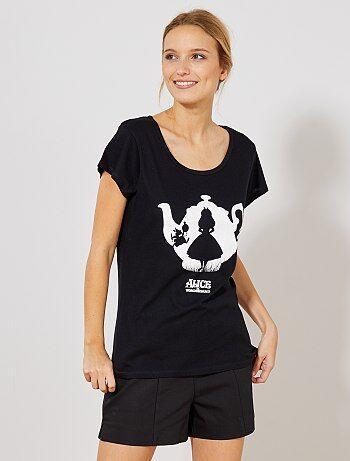 T-shirt van 'Alice in wonderland' - Kiabi