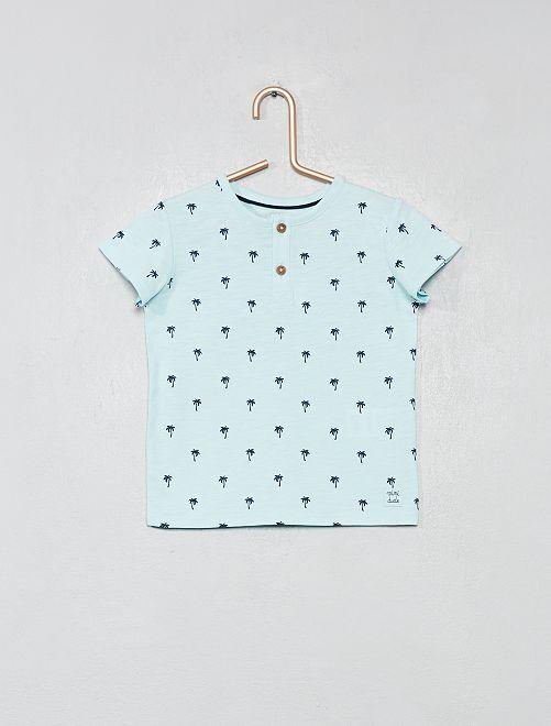 T-shirt van biologisch katoen                                                                                                                                                                 BLAUW Jongens babykleding