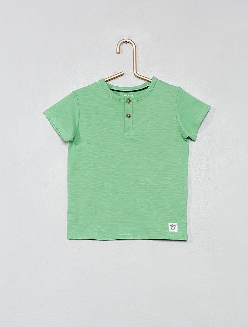 T-shirt van biologisch katoen                     groen Jongens babykleding