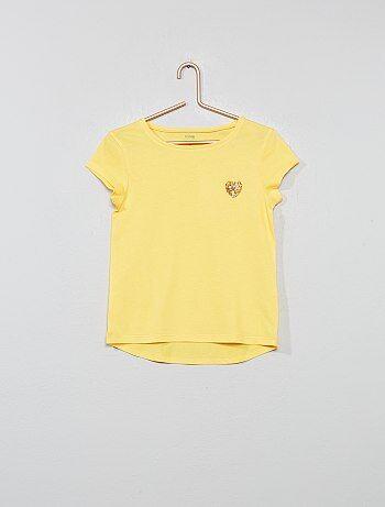 66468c89d1b Meisjeskleding 3-12 jaar - T-shirt van biologisch katoen met 'hart'