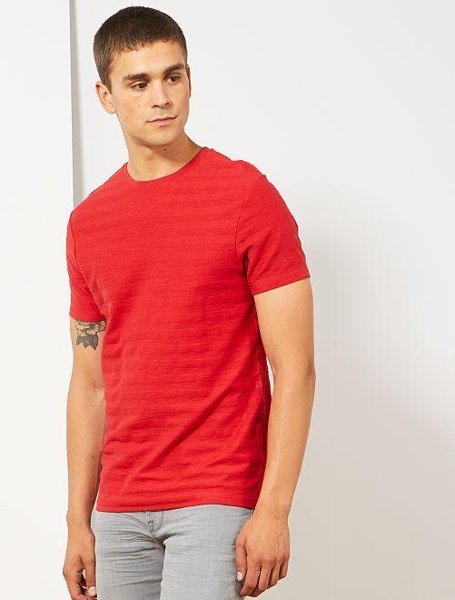 T-shirt van biologisch katoen                                                                             ROOD