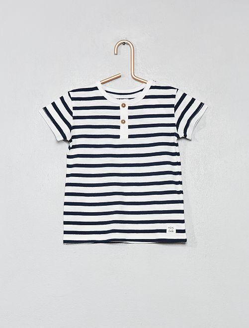T-shirt van biologisch katoen                                                                                                                                                                 WIT Jongens babykleding