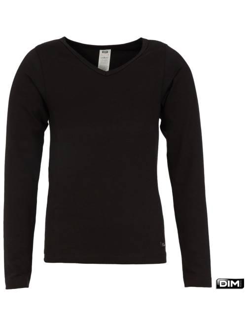 T-shirt van 'Dim'                             zwart