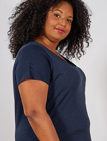 Dames Size+ - T-shirt van gevlamd tricot - Kiabi