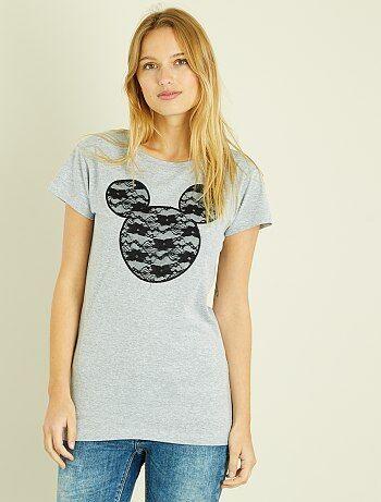 T-shirt van kant van 'Mickey' - Kiabi