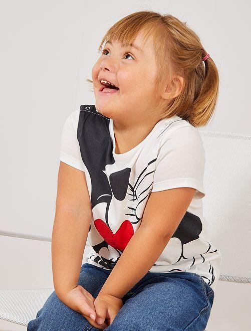 T-shirt van 'Mickey & Minnie'                             WIT Kinderkleding meisjes