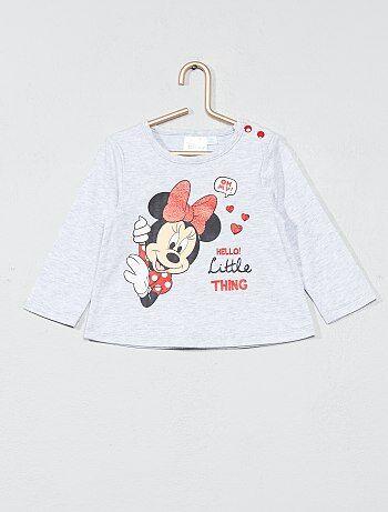 Meisje 0-36 maanden - T-shirt van 'Minnie' met lange mouwen - Kiabi