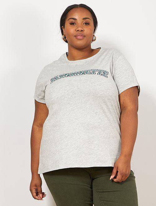 T-shirt van 'Super Mom'                                         GROEN Dames size+