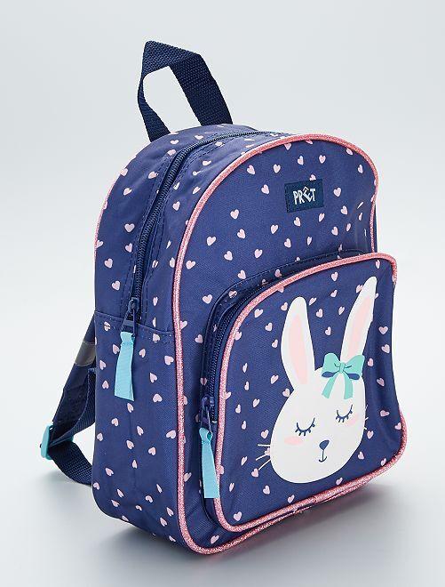 Tas met konijntje                             blauw