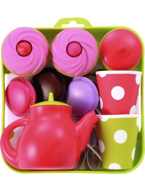 Thee servies met cupcakes                             meerkleurig