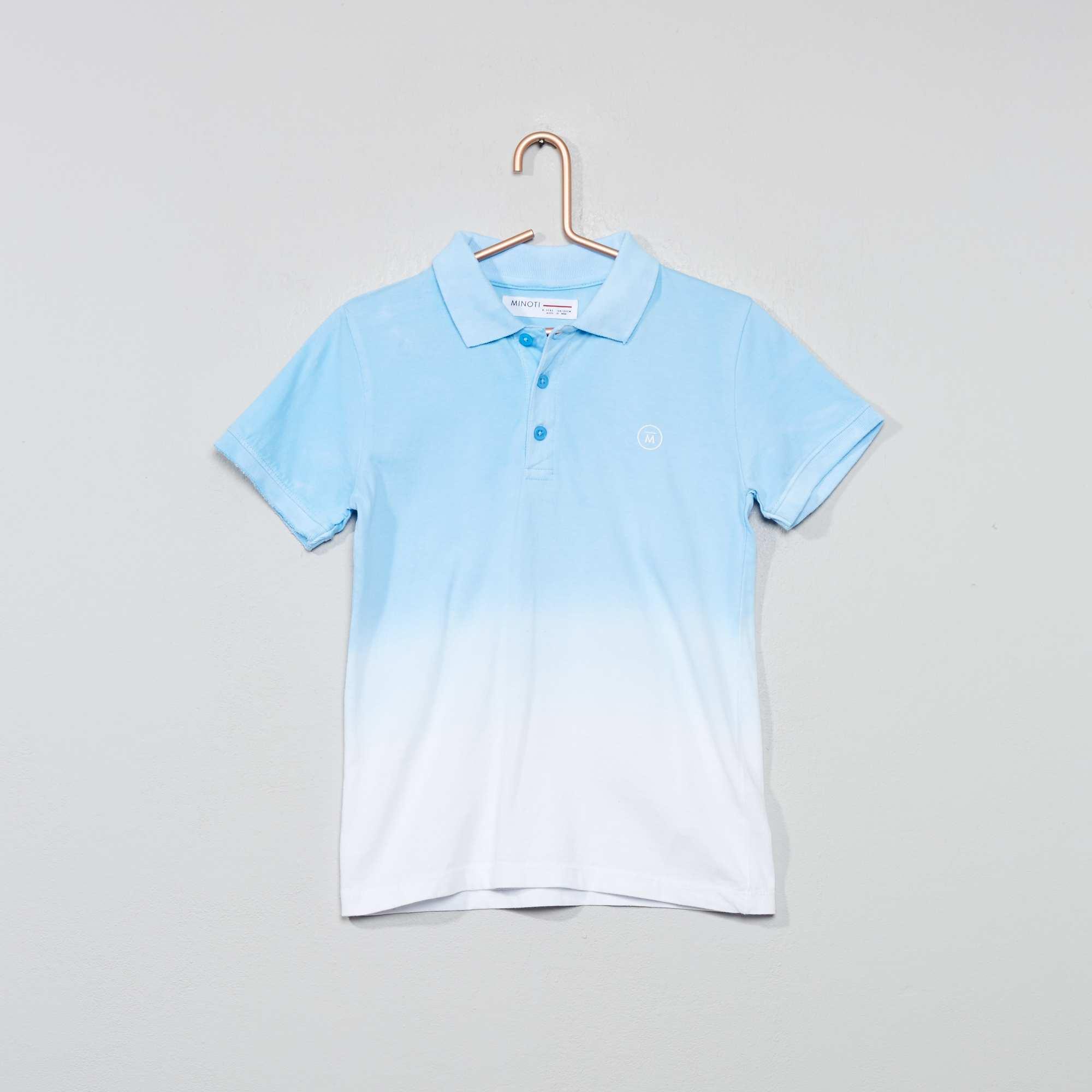 Originele Kinderkleding.Tie And Dye Polo Van Tricot Kinderkleding Jongen Blauw Kiabi