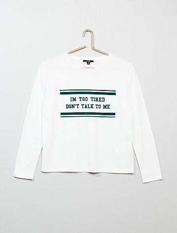 Meisjeskleding 10-18 jaar - Trendy T-shirt - Kiabi
