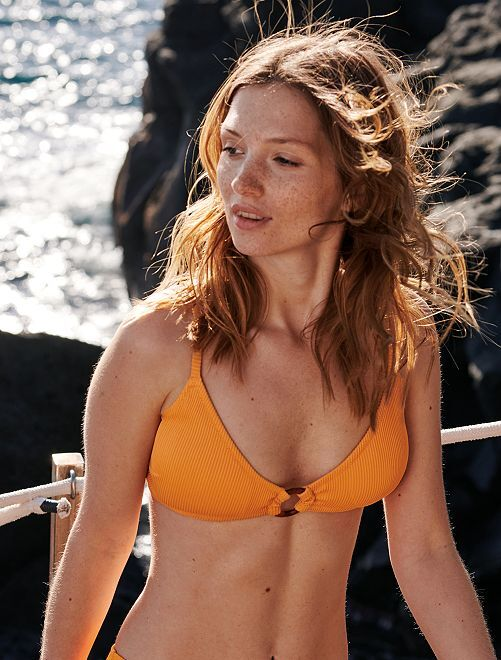Triangelvormig bikinibovenstukje                                                                 abrikoos Dameskleding