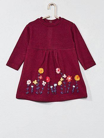 Tricot jurk met bloemen - Kiabi