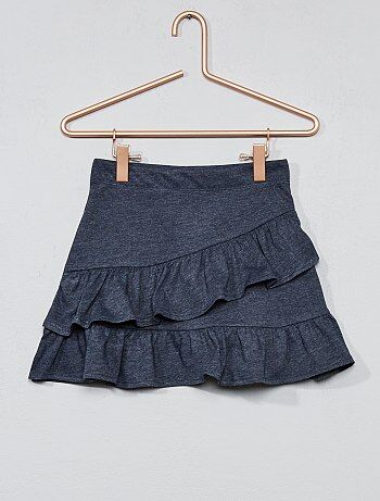 Meisjeskleding 3-12 jaar - Tricot rok met ruches - Kiabi