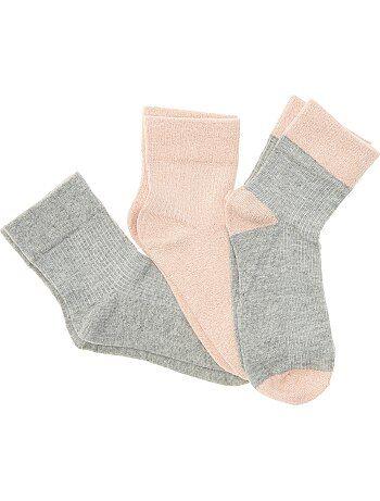 Meisjeskleding 10-18 jaar - Tricot sokken met pailletjes - Kiabi