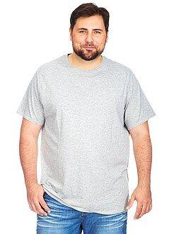 T-shirt - Tricot T-shirt met een ronde hals, grote maten