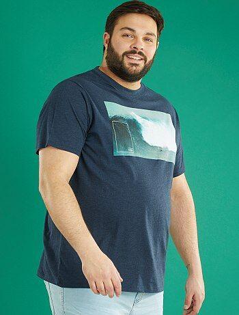 Tricot T-shirt met print - Kiabi