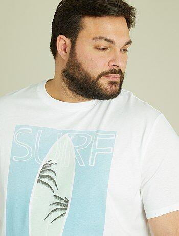 Tricot T-shirt met tropische print - Kiabi