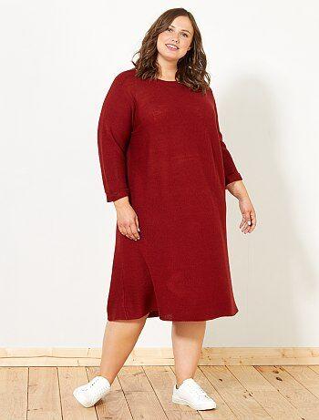 Dames Size+ - Tricot trui-jurk - Kiabi