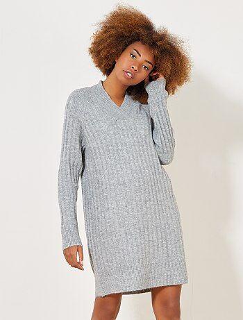 Trui-jurk met V-hals - Kiabi