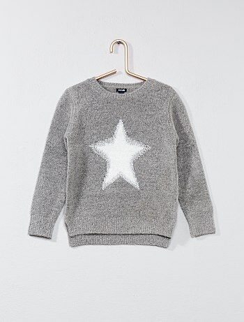Trui met sterrenprint van harig tricot - Kiabi