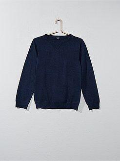 Truien & vesten - Trui van fijn tricot met een ronde hals