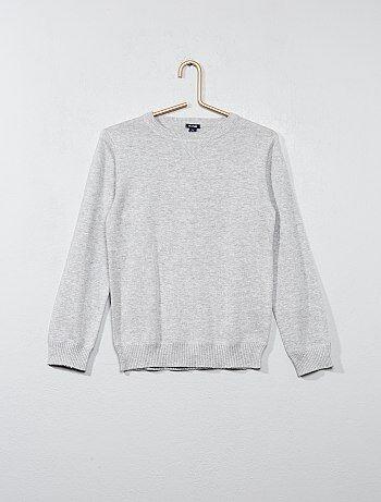 Trui van fijn tricot met een ronde hals - Kiabi