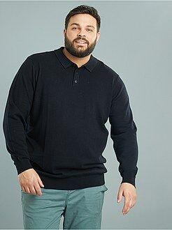 Trui, vest - Trui van fijn tricot met polokraag