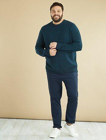 Trui van gemêleerd tricot - Kiabi