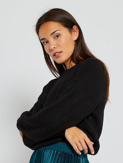 Trui van tricot                                         zwart
