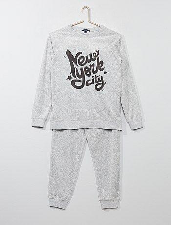 Tweedelige fluwelen pyjama - Kiabi