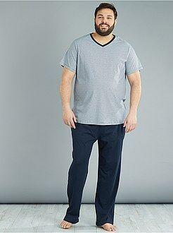 Herenmode grote maten - Tweedelige lange pyjama - Kiabi