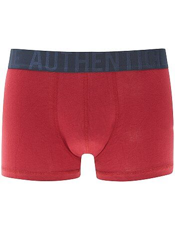 Tweekleurige boxershort van stretch katoen - Kiabi