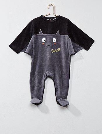 Tweekleurige pyjama met vleermuis - Kiabi